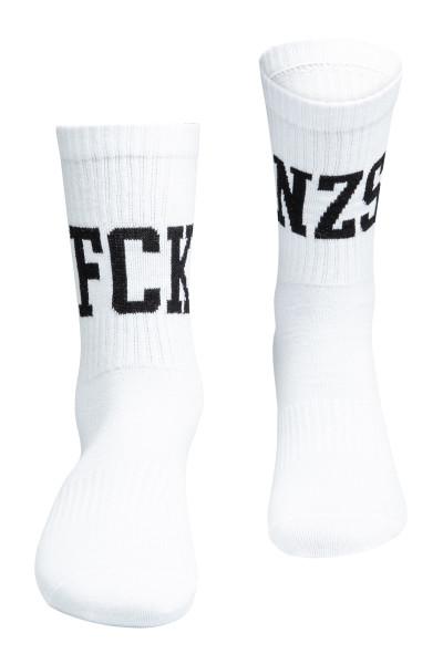 True Rebel Socks FCK NZS White