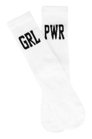 Sixblox. Socks GRL PWR White Black EU39-42