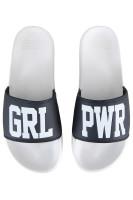 Sixblox. Badelatschen GRL PWR White Black