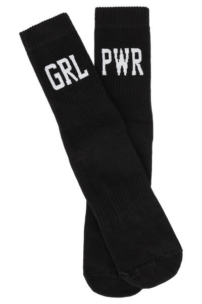 Sixblox. Socks GRL PWR Black White