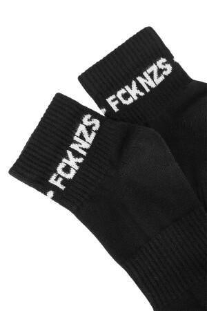 Sixblox. Quarter Socks FCK NZS Black